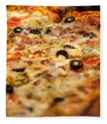 Supreme Meat Works Pizza  Sliced And Ready To Eat Fleece Blanket