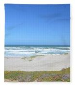 Surf Beach Lompoc California 3 Fleece Blanket