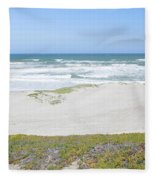 Surf Beach Lompoc California 4 Fleece Blanket