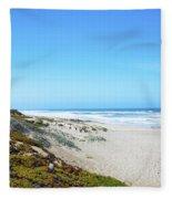 Surf Beach Lompoc California Fleece Blanket
