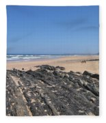 Surf Beach Portugal Fleece Blanket