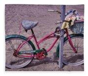 Surf Bike Fleece Blanket