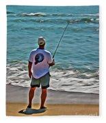 Surf Fishing Fleece Blanket