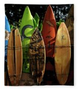 Surfboard Fence 4 Fleece Blanket