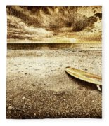 Surfboard On The Beach 2 Fleece Blanket