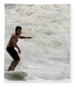 Surfer 0803b-2 Fleece Blanket