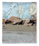 Surfer Beach 1034b Fleece Blanket