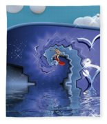 Surfer Boy - Ride The Waves Fleece Blanket