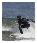 Surfer Hitting The Curl Fleece Blanket