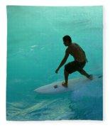Surfer In The Zone Fleece Blanket