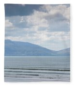 Surfer On The Beach, Inch Strand Fleece Blanket