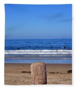 Surfers Waiting.... Fleece Blanket