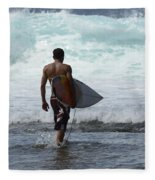 Surfing Brazil 3 Fleece Blanket