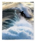 Surfing For Gold Fleece Blanket