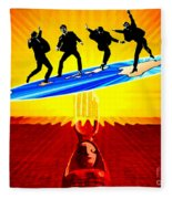 Surfing For Peace Fleece Blanket