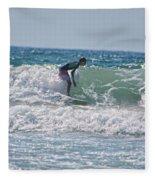 Surfing In California Fleece Blanket
