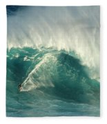 Surfing Jaws 2 Fleece Blanket