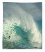 Surfing Jaws 3 Fleece Blanket