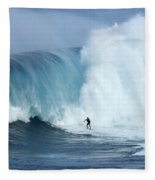 Surfing Jaws 4 Fleece Blanket