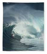 Surfing Jaws Fast And Furious Fleece Blanket