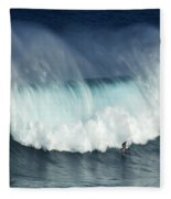Surfing Jaws Running With Wolves Fleece Blanket
