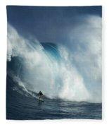 Surfing Jaws Surfing Giants Fleece Blanket