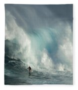 Surfing Jaws The Wild Side Fleece Blanket