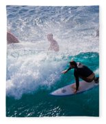 Surfing Maui Fleece Blanket