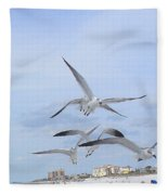 Surfing Party At Clearwater Beach Fleece Blanket