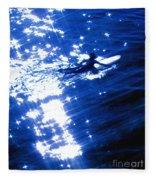 Surfing The Stars Fleece Blanket