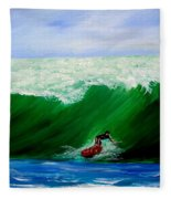 Surf's Up Surfing Wave Ocean Fleece Blanket