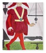 Surgeon, 14th Century Fleece Blanket