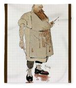 Surgeon: Caricature, 1906 Fleece Blanket