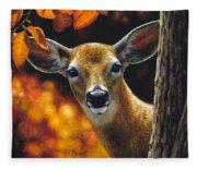 Whitetail Deer - Surprise Fleece Blanket