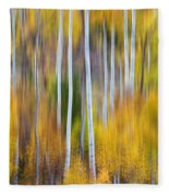 Surreal Aspen Tree Magic Abstract Art Fleece Blanket