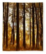 Surreal Autumn Fleece Blanket