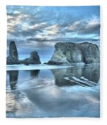 Surreal Beach Swirls Fleece Blanket