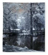 Surreal Dreamy Fantasy Nature Infrared Landscape - Edisto Park South Carolina Fleece Blanket