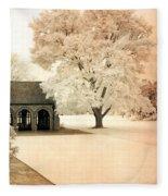 Surreal Ethereal Infrared Sepia Nature Landscape Fleece Blanket