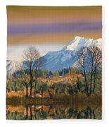 Surreal Landscape-hdr Fleece Blanket