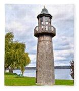 Surreal Lighthouse Fleece Blanket