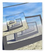 Surreal Monitors Infinite Loop Fleece Blanket