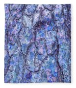 Surreal Patterned Bark In Blue Fleece Blanket