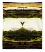 Surreal Reflecting Pool Fleece Blanket