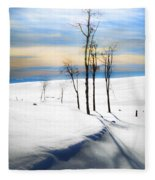 Surreal Snowscape Fleece Blanket