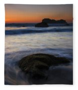 Surrounded By The Tide Fleece Blanket
