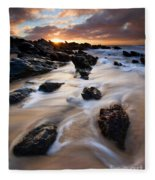 Surrounded By The Tides Fleece Blanket