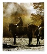 Surveying War's Fallen D0396 Fleece Blanket