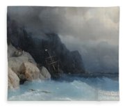 Survivors Of A Shipwreck On A Rocky Path  Fleece Blanket