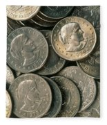 Susan B. Anthony Dollar Fleece Blanket